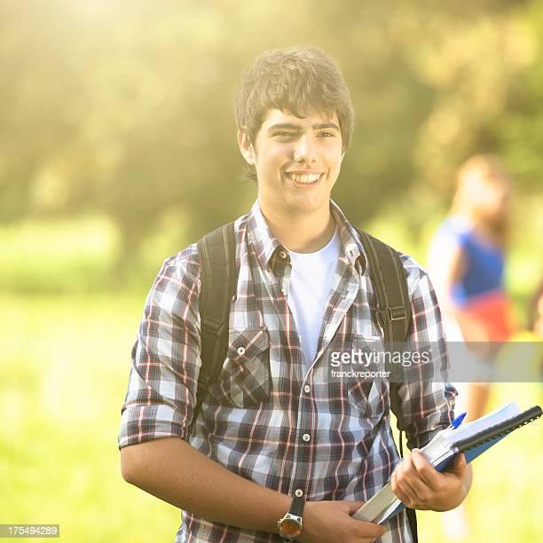 Junge college-student im Freien