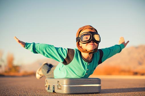 Young Boy Dreams of Air Travel - gettyimageskorea