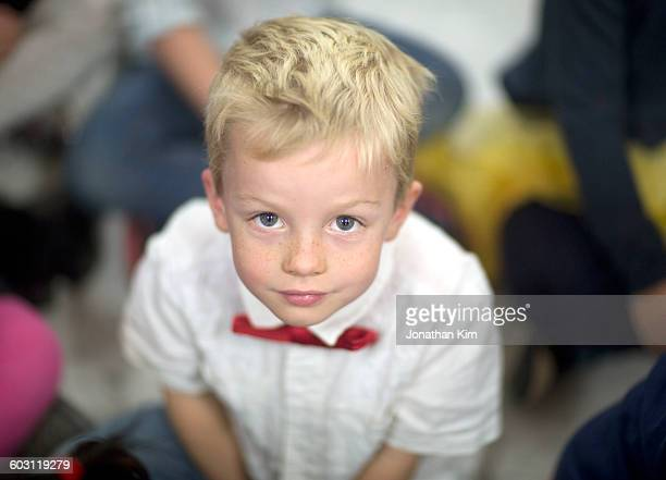 Young boy in bow tie.