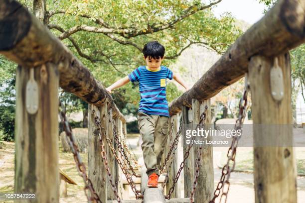 young boy in playground