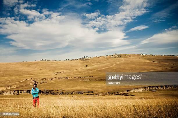 Junge im ländlichen Transkei
