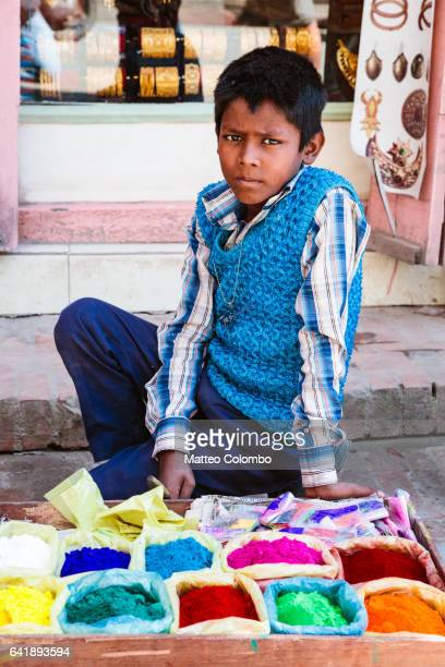Young boy in the streets of Kathmandu, Nepal