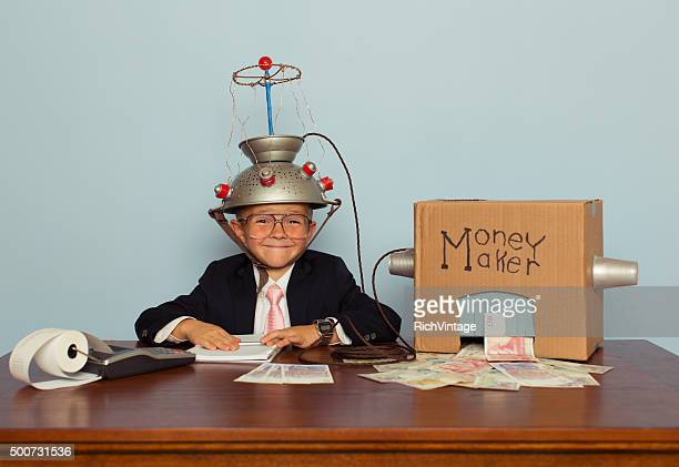 Young Boy Makes Money with Idea Helmet