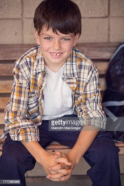 Young boy on a Bench
