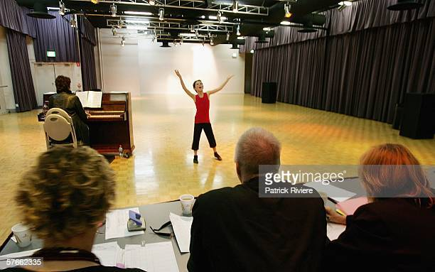 """Young boy performs during the audition for the search for """"Little Peter"""" in the new production of The Boy From Oz at the Sydney Entertainment Centre..."""