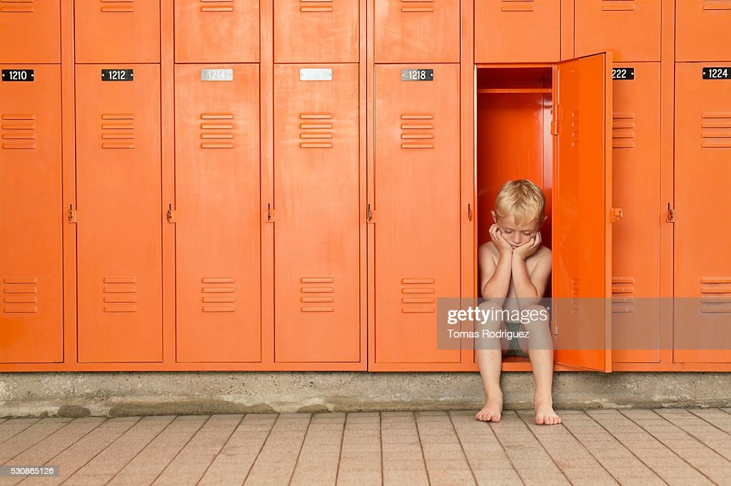Young Boys Changing In Locker Room Stock Photos and