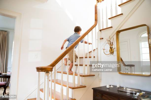 Boy Going Up Stairs Stock Pictures, Royalty-free Photos ...