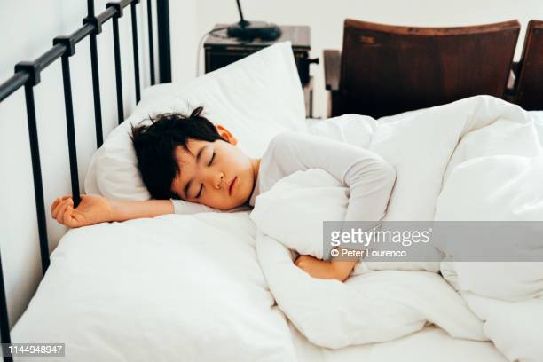 a young boy sleeping - peter lourenco stock pictures, royalty-free photos & images