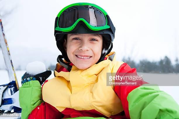 Junge snowboarder