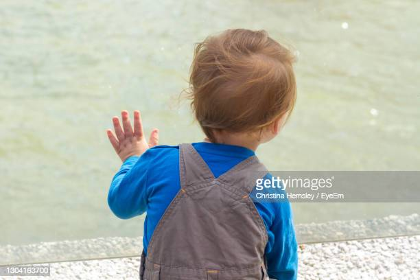 young boy staring out into the water - one baby boy only stock pictures, royalty-free photos & images