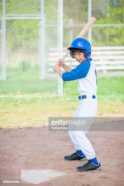 Young Boy Up at Bat