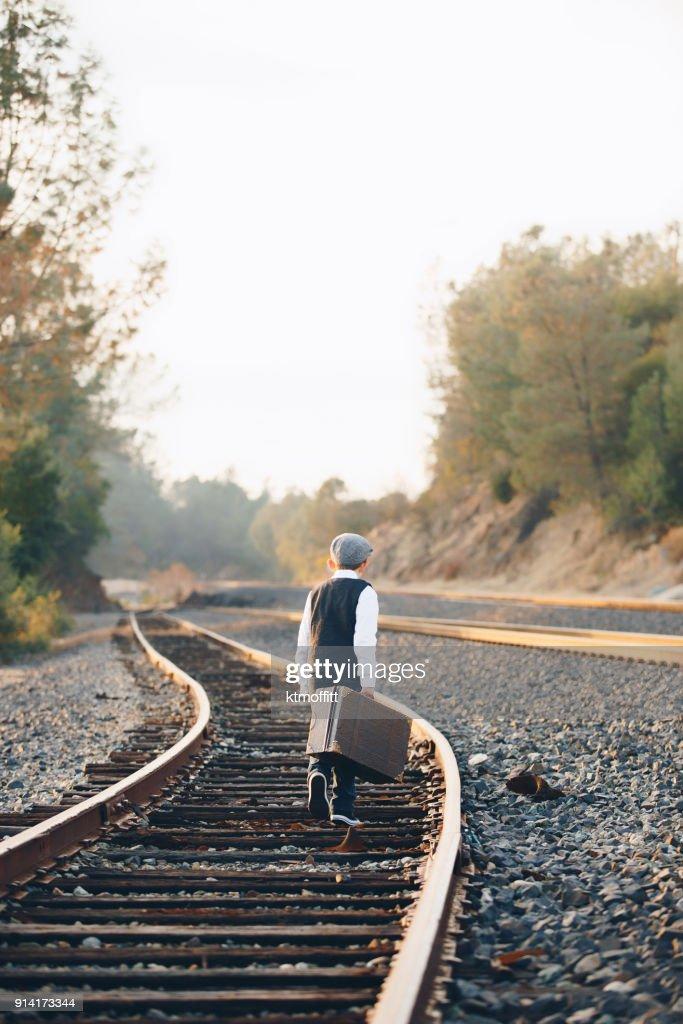 Stray Dog On The Railroad Tracks Stock Photo - Image of