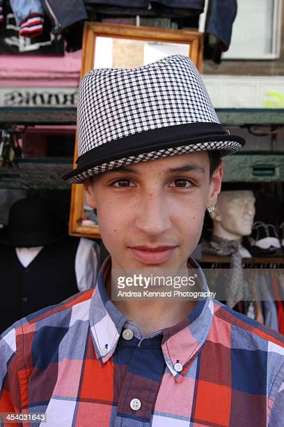 Young boy wearing a hat