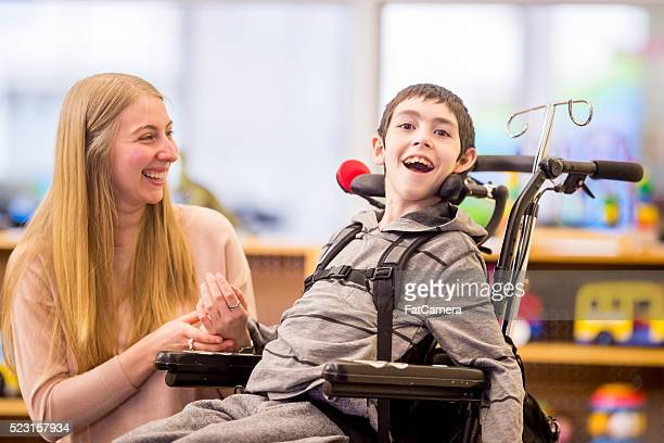 Young Boy with a Physical Disability