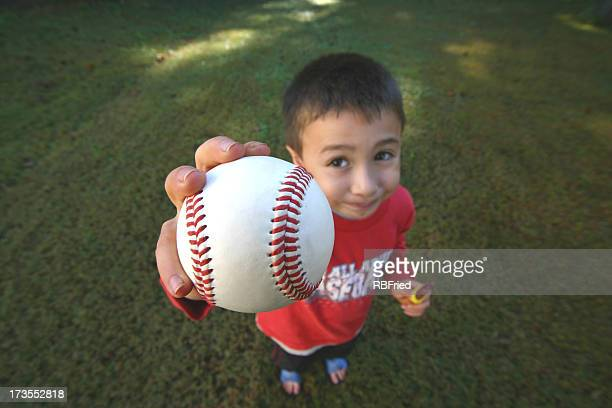 Young Boy with Baseball
