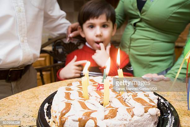 Young Boy with Birthday Cake