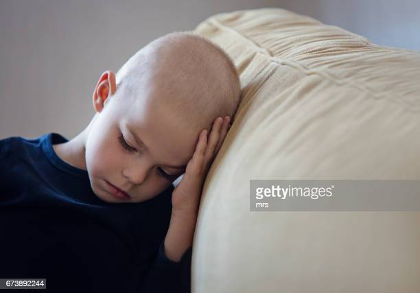 young boy with cancer - cancer illness stock pictures, royalty-free photos & images
