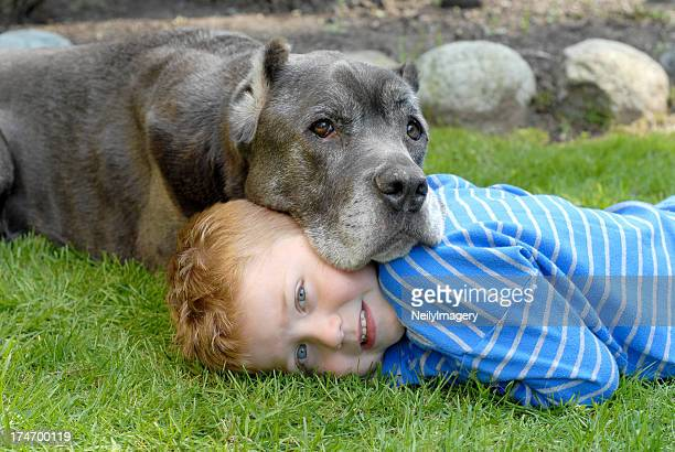 Young Boy With His Old Friend