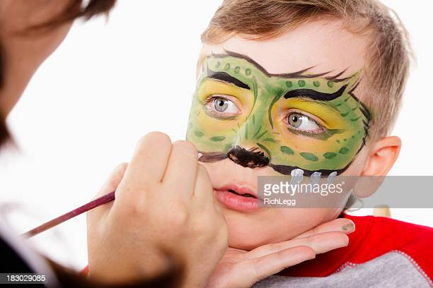 Young Boy with Painted Face