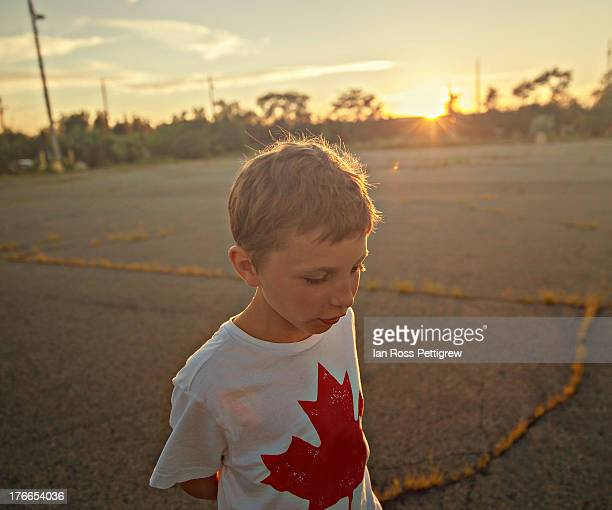 Young boy_sunset