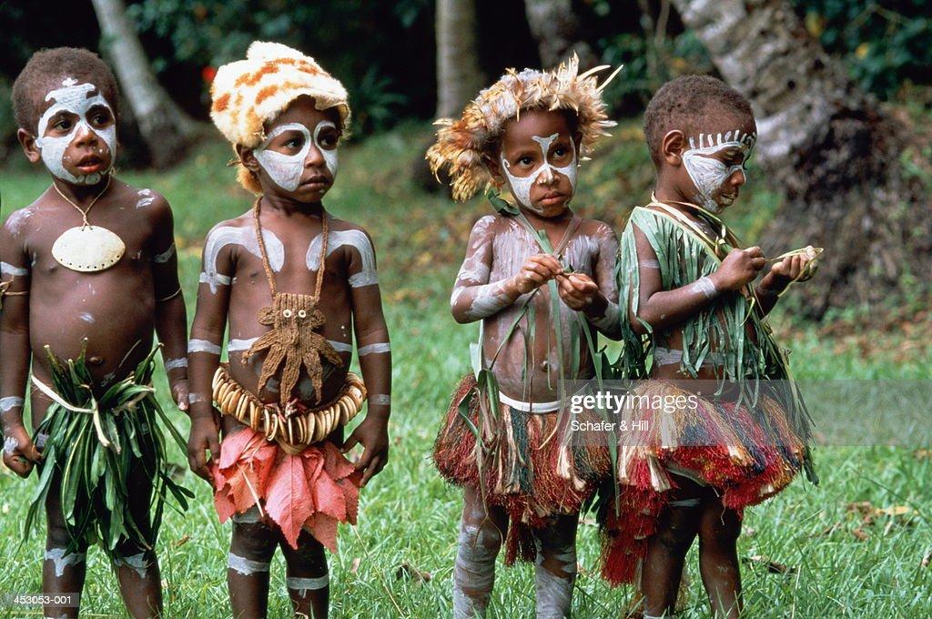 Man In Complex Costume In Papua New Guinea Editorial Stock