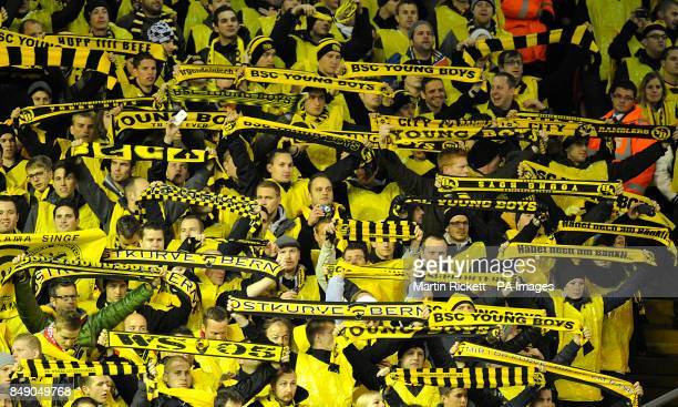 Young Boys fans in the stands