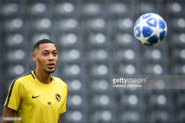 Anthony Martial of Manchester United gestures after the UEFA Champions League Group H match between BSC Young Boys and Manchester United at Stade de...