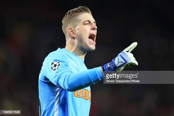 Young Boys goalkeeper David von Ballmoos during the Group H match of the UEFA Champions League between Manchester United and BSC Young Boys at Old...