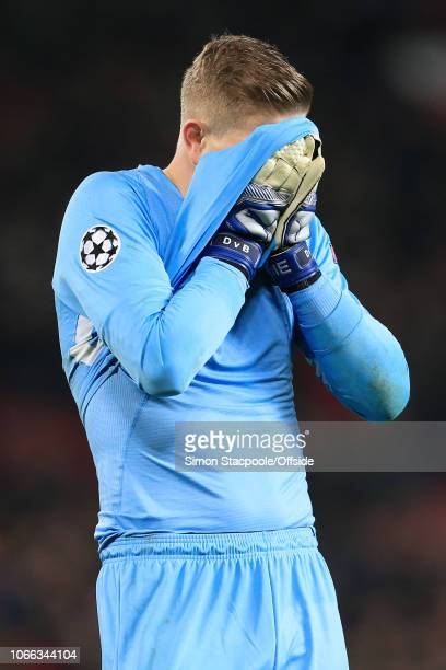 Young Boys goalkeeper David von Ballmoos looks dejected during the Group H match of the UEFA Champions League between Manchester United and BSC Young...