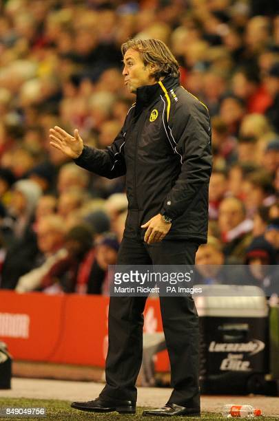 Young Boys manager Martin Rueda on the touchline