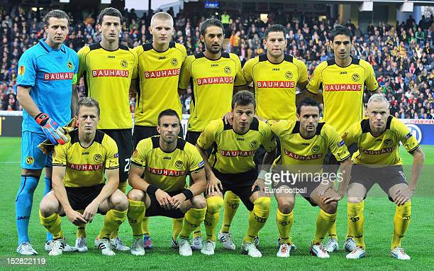 Young Boys team group taken prior to the UEFA Europa League group stage match between BSC Young Boys and Liverpool FC on September 20 2012 at the...