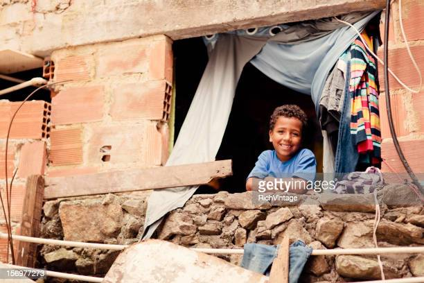 young brazilian boy - favela stock pictures, royalty-free photos & images