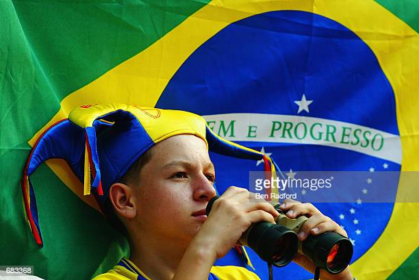 Young Brazilian fan inside the stadium before the Group C match against Turkey of the World Cup Group Stage played at the Ulsan-Munsu World Cup...