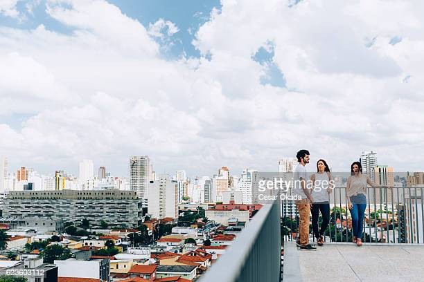 Young Brazilians chatting