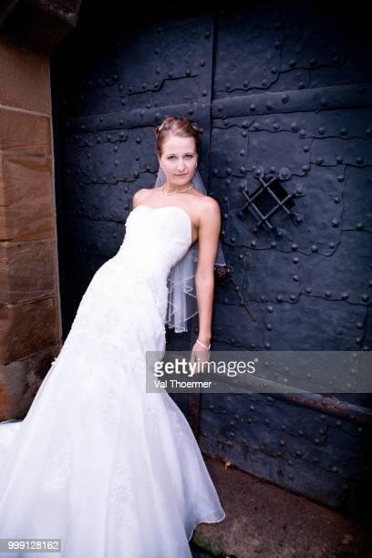 Young bride, Veste Coburg citadel, Coburg, Bavaria, Germany