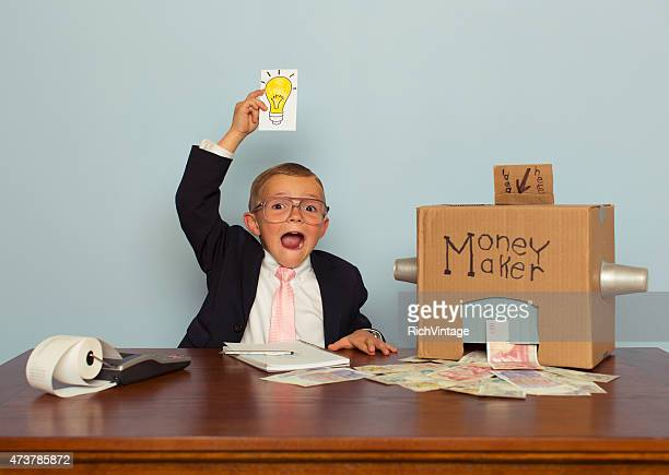 Young British Boy Makes Money with Ideas