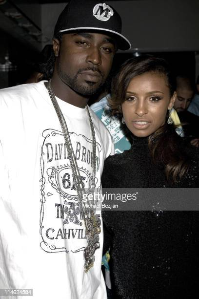 Young Buck and Melody Thornton during BET Awards 2007 Exclusive Creme of the Crop Dinner Party at Mr Chows in Los Angeles California United States