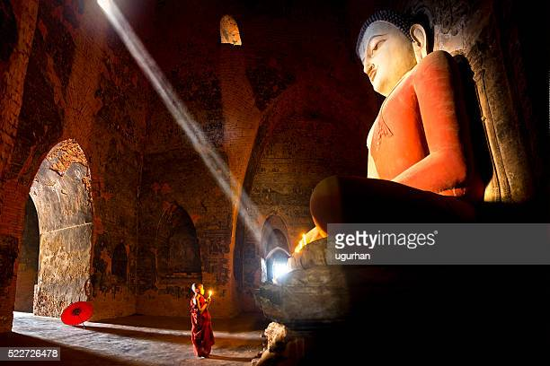 Young buddhist monk in Myanmar