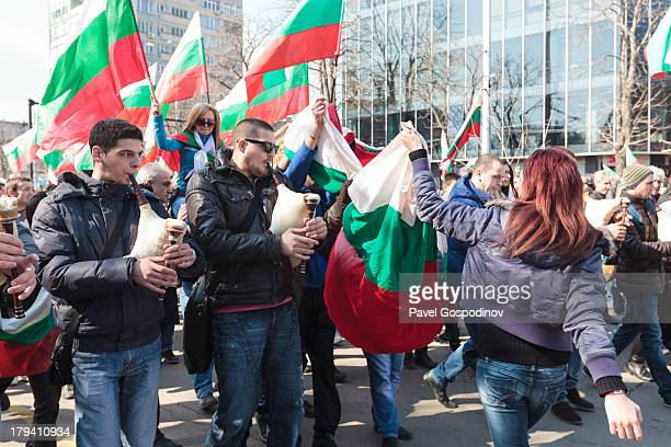 CONTENT] Young Bulgarians playing bagpipes during the demonstrations in Varna Bulgaria Bulgarians across the country staged once again demonstrations...