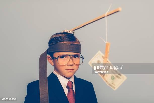 Jonge Business jongen gebruik motivatie