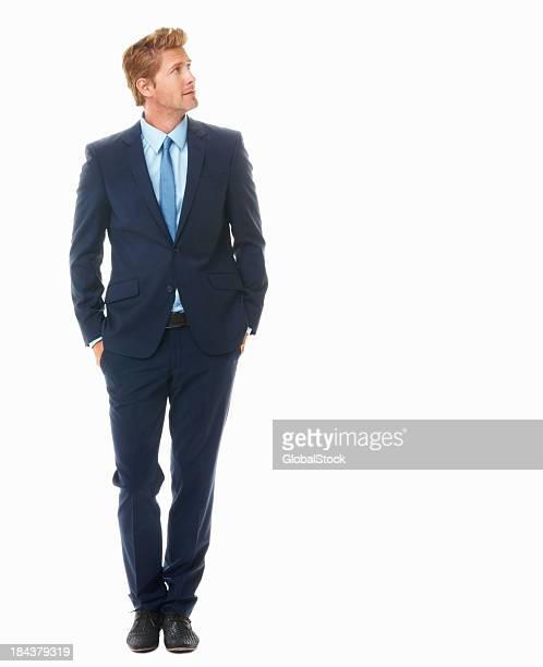 若いビジネスの男性の距離