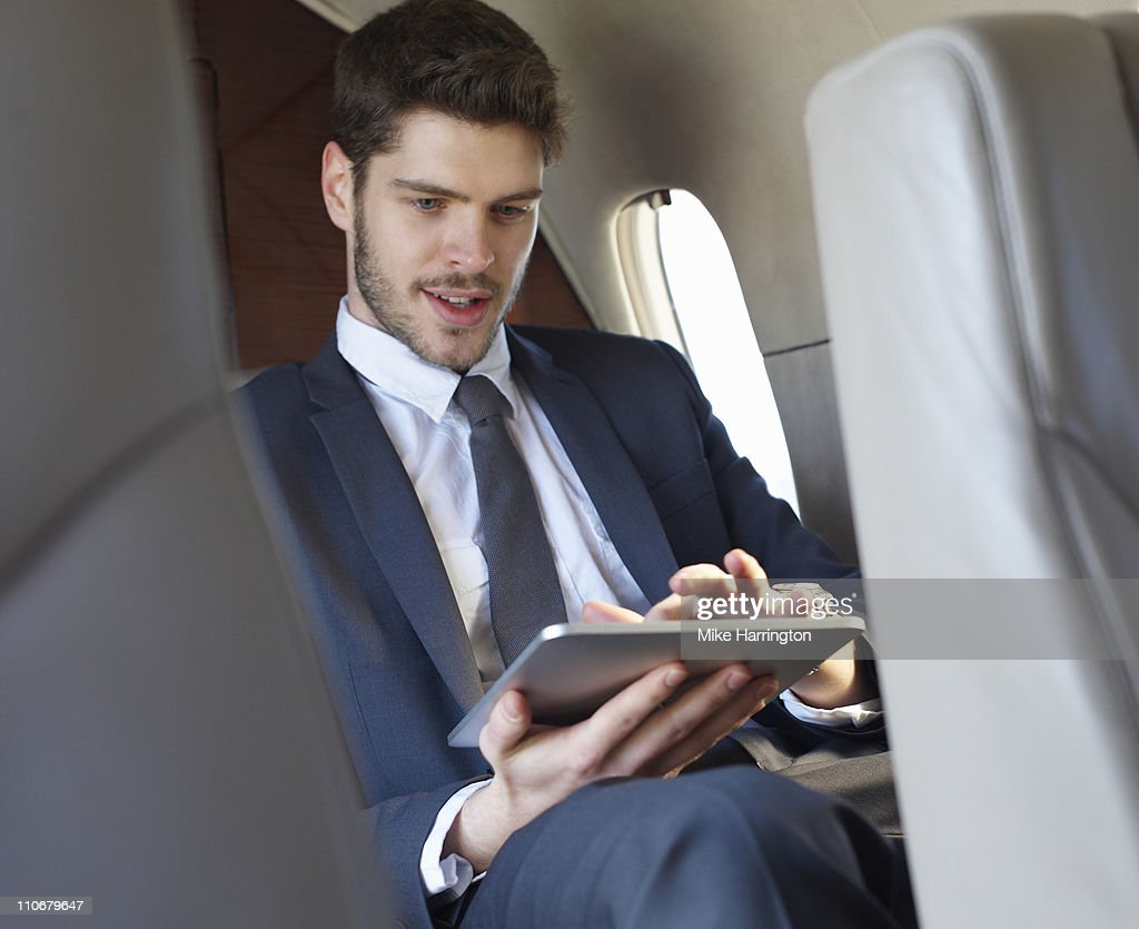 Young Business Man Using Graphics Tablet : Stock Photo