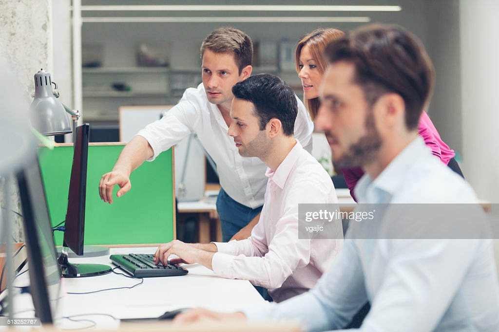 Young Business People Collaborate. : Stock Photo