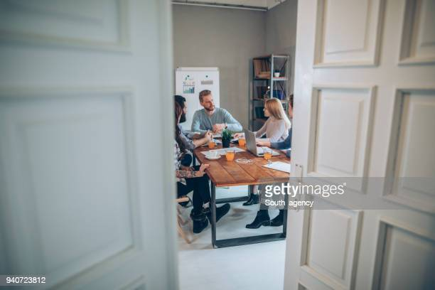 young business people working together - creative director stock pictures, royalty-free photos & images