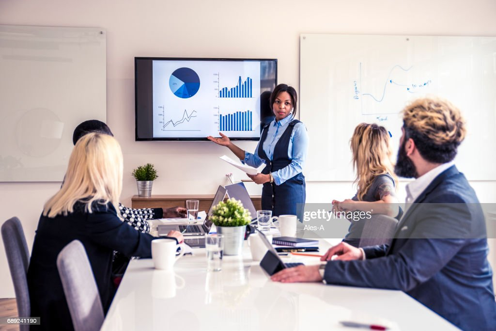 Young business team in the office : Stock Photo