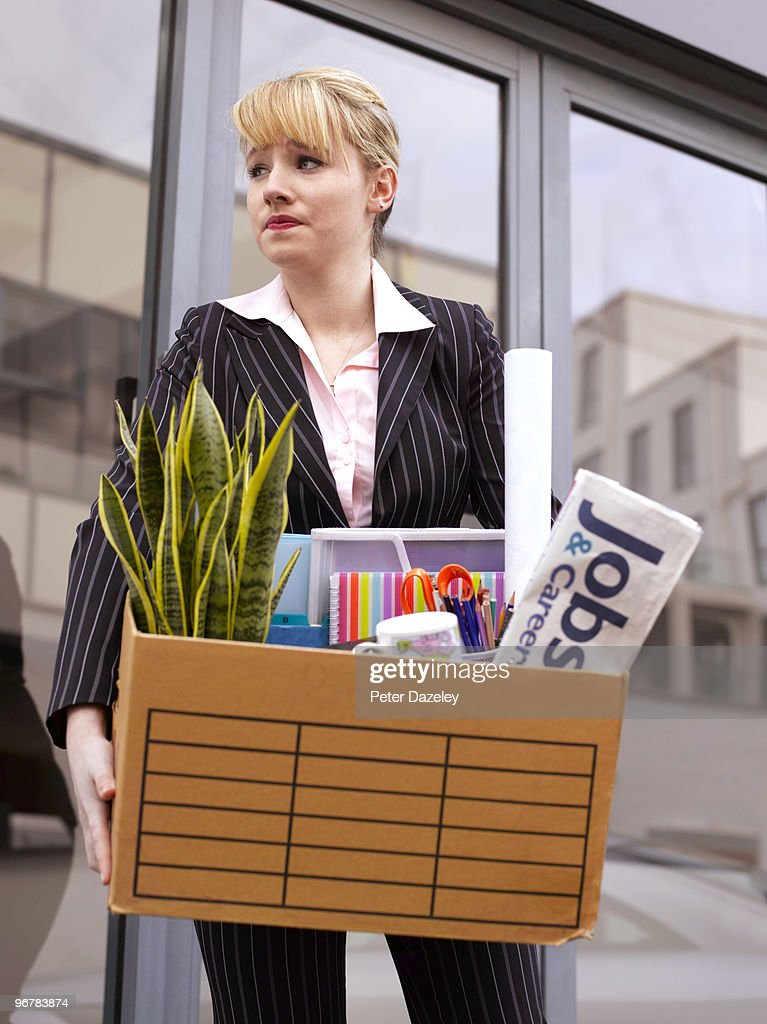 Young business woman made redundant  : Stock Photo