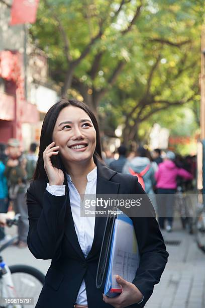 Young Business Woman with Cell phone
