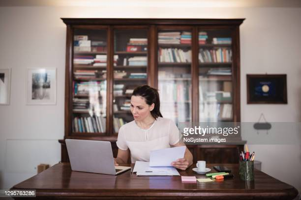 young business woman working at home - lawyer stock pictures, royalty-free photos & images