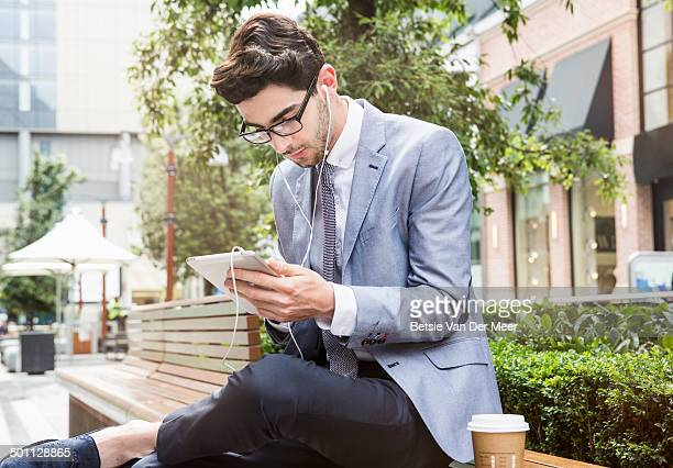 young businessman at lunch break