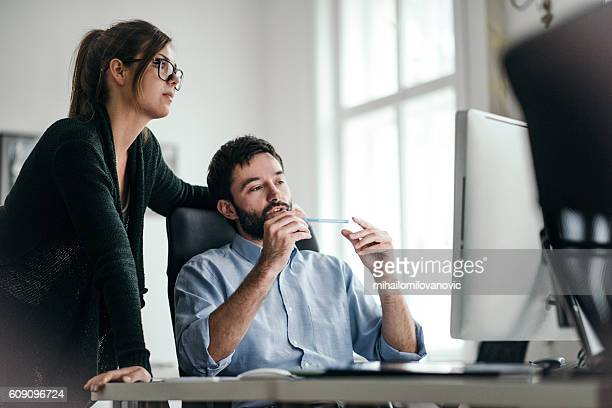 Young businessman explaining some ideas
